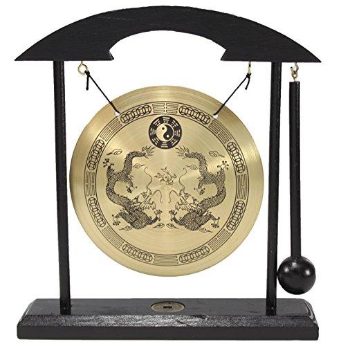 (Dragon Zen Table Gong Feng Shui Meditation Desk Bell Home Decor Housewarming Congratulatory Blessing Gift US Seller (Dragon Gong-WDC970) )