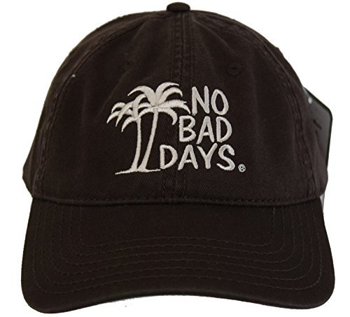 - No Bad Days Garment Washed Superior Combed Cotton Twill Six Panel Cap - Brown
