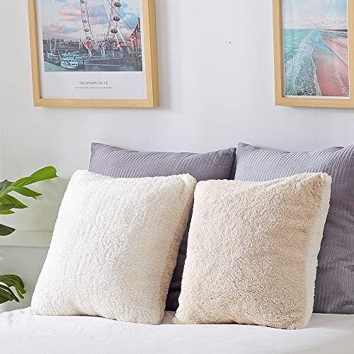Panku Sherpa Pillow Cover Super Soft