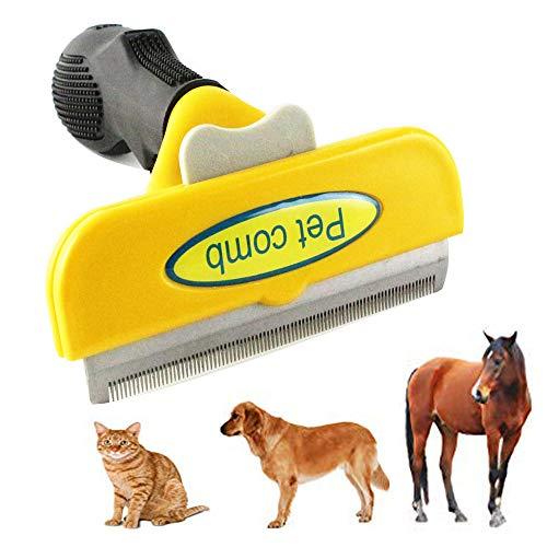 (Jason zeng Pet Trim Deshedding Comb, Dog Cat and Horse Dematting Tool, Short Medium or Long Hair Clean Brush, Best Beauty Care Effectively Reducing Shedding 95% (Large))
