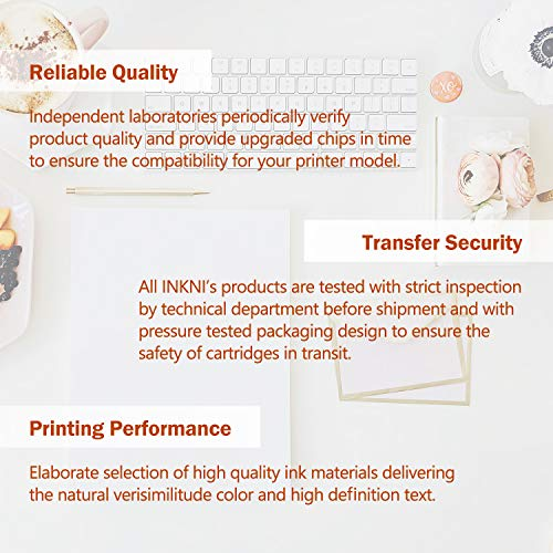 INKNI Remanufactured Ink Cartridge Replacement for HP 65XL for Envy 5055 5052 5010 Deskjet 3755 3752 2655 3755 2652 2622 2624 3720 3722 2630 AMP 100 120 125 130 (Black Tri-Color, 2-Pack)