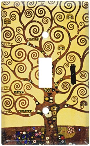 Art Plates - Klimt: The Tree of Life Switch Plate - Single Toggle (Art Single Toggle Switch)