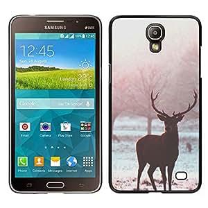 EJOY---Cubierta de la caja de protección para la piel dura ** Samsung Galaxy Mega 2 ** --Cuernos de campo de nieve Árboles Mist Naturaleza