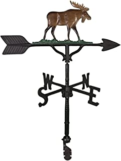 product image for Montague Metal Products 32-Inch Weathervane with Color Moose Ornament