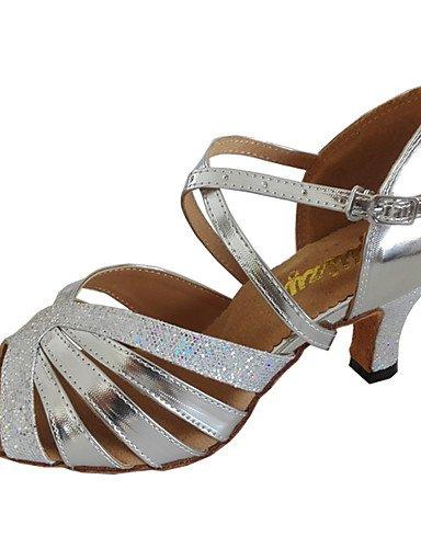 La mode moderne Sandales femmes Sandales personnalisable danse sur mesure en simili cuir Talon orteil ouvert Chaussures de danse,or,US5.5/EU36/UK3.5/CN35