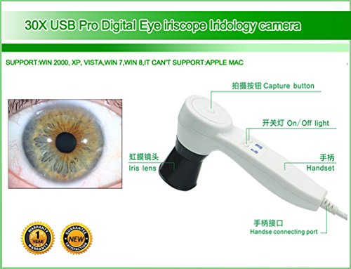 NEW USB Iriscope Iris Analyzer Iridology Camera with Pro Iris Software