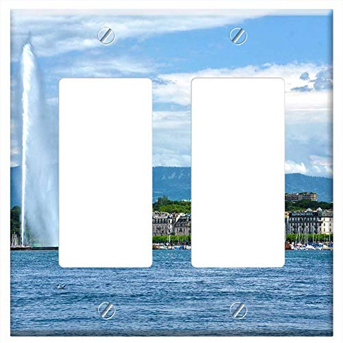 (Switch Plate Double Rocker/GFCI - Geneva Switzerland Europe Swiss European)