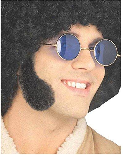 Forum Novelties Men's Human Hair Sideburns, Gray, One Size -