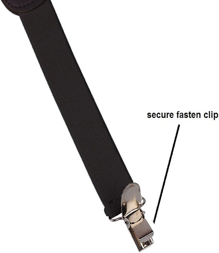 1//2 Wide by CoverYourHair Suspenders Solid Color Y-Back Suspenders Adjustable Elastic Shoulder Strap