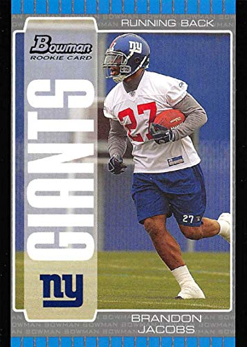 (2005 Bowman Football #122 Brandon Jacobs RC Rookie Card New York Giants Official NFL Trading Card From Topps )