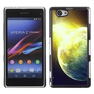 Be Good Phone Accessory // Dura Cáscara cubierta Protectora Caso Carcasa Funda de Protección para Sony Xperia Z1 Compact D5503 // Shining Planet