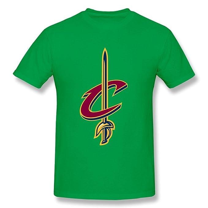 limei Hombres de la NBA Cleveland Cavaliers Logo cuello redondo camiseta: Amazon.es: Ropa y accesorios