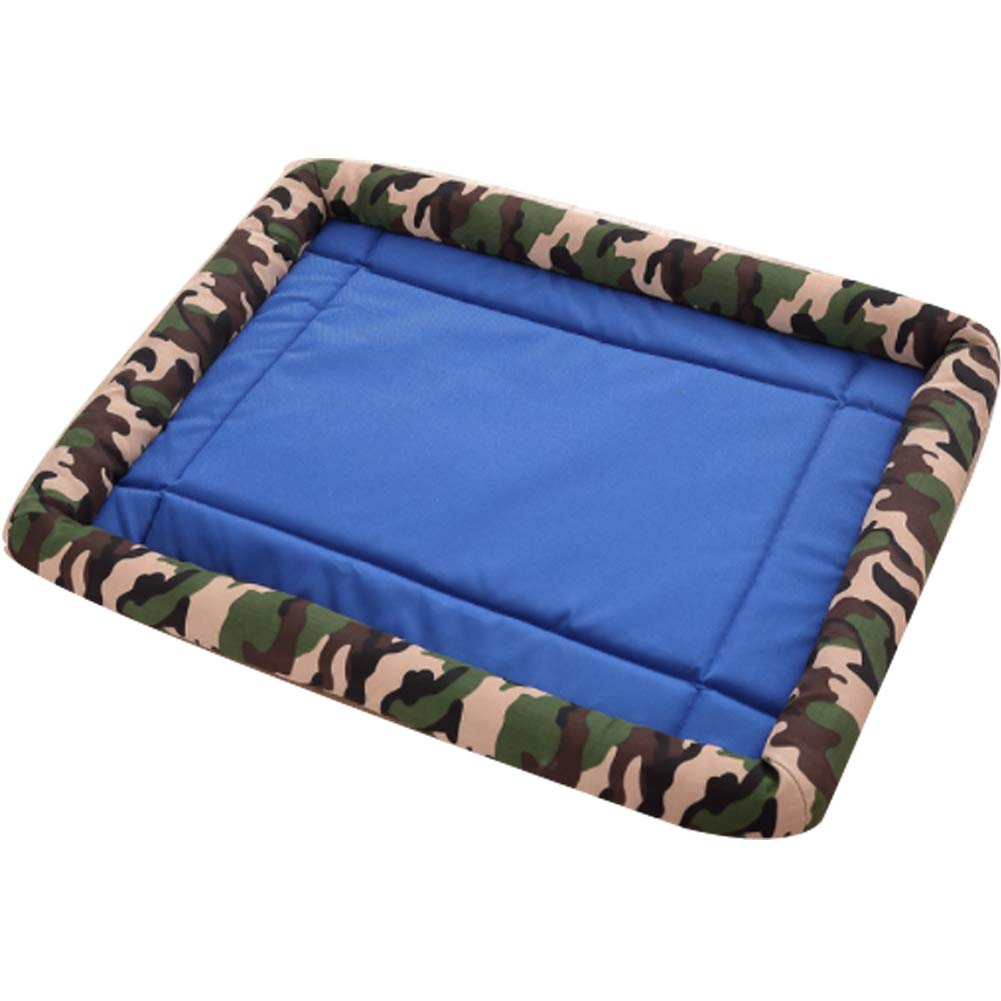 bluee Small bluee Small Bolster Pet Bed with Washable Bolster Padding Anti-Slip Mattress for Dogs and Cats