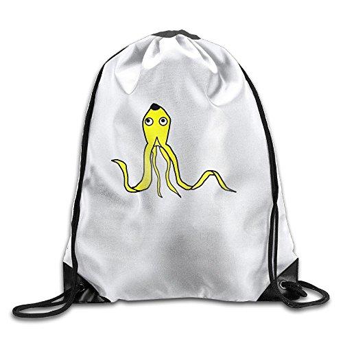 Banana Squid Drawstring Backpack Drawstring Backpack For Men & Women School Travel Backpack
