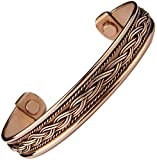 Men's Women Pure Magnetic Copper Bracelet Therapy Golf Cuff Wrist Bangle to Heal Mcb18