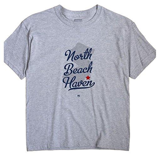 GreatCitees North Beach Haven New Jersey NJ MAP Unisex Souvenir T Shirt
