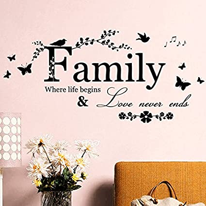 ferris store new diy family love never ends english letter quotes
