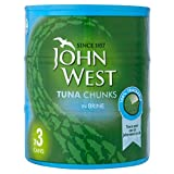John West Tuna Chunks in Brine (3x160g)