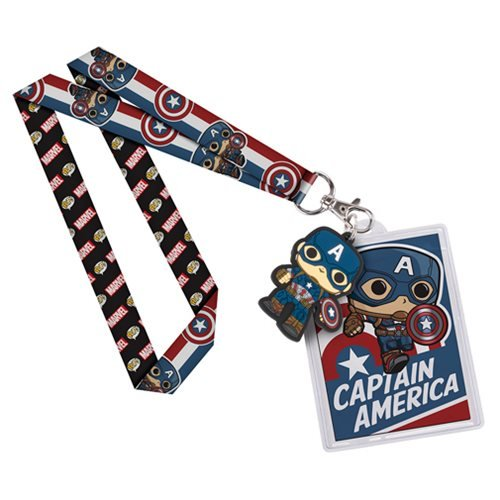 Captain America Lanyard Action Figure product image