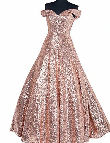 e65092c1e62 YIRENWANSHA 2019 Off Shoulder Prom Dress for Women Long Sequin Manual Beaded  Formal Gown SHPD41