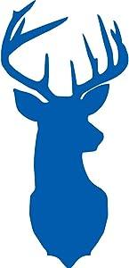 NBFU DECALS Deer Silhouette Art (Azure Blue) (Set of 2) Premium Waterproof Vinyl Decal Stickers for Laptop Phone Accessory Helmet Car Window Bumper Mug Tuber Cup Door Wall Decoration