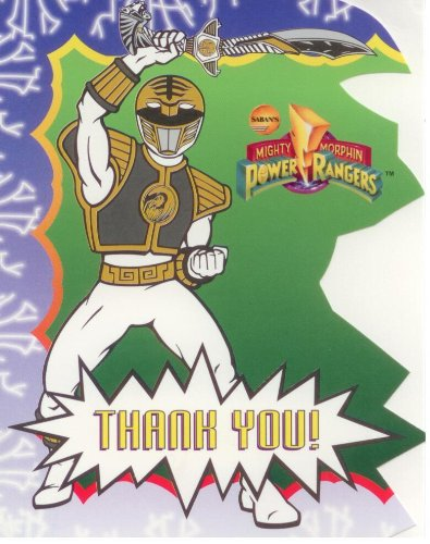 (Power Rangers Thank You Notes)