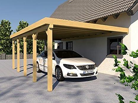 König Werbeanlagen CarPort CarPort Eiffel VII 400 x 800 cm montar, anlehn CarPort: Amazon.es: Jardín