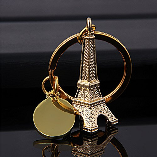 Eiffel Tower key chain favor from Paris, French souvenirs key rings - Key Favors Collection Chain