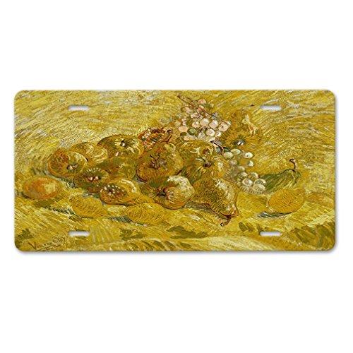 Lievon Quinces Lemons Pears & Grapes (Van Gogh) Car Aluminum License Plate
