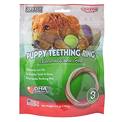 N-Bone Puppy Teething Ring Chicken Chew Treat