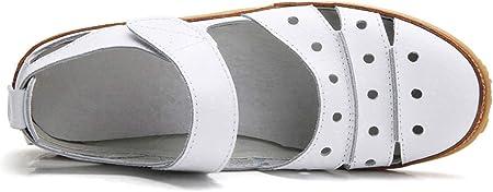 Z.SUO Sandalias Mujer de Cuero Planas Cómodos Casual Mocasines Moda Zapatos Plano Verano Sandalias de Vestir