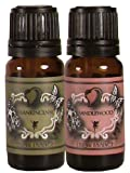 Scented Oils – Pair of Essence – Sandalwood and Frankincense – 10 Ml, Health Care Stuffs