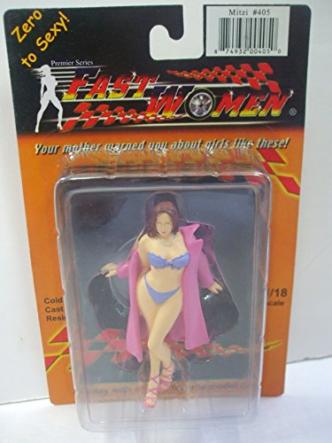 Fast Women Zero to Sexy 1/18 Scale - Mitzi #405 - Car Girl Model - Cold Cast Resin Figure