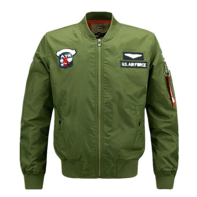 Camisa De Béisbol para Hombre Gran Hombre Gordo Chaqueta De Ocio Y Fuerza Aérea N ° 1 Chaquetas: Amazon.es: Ropa y accesorios