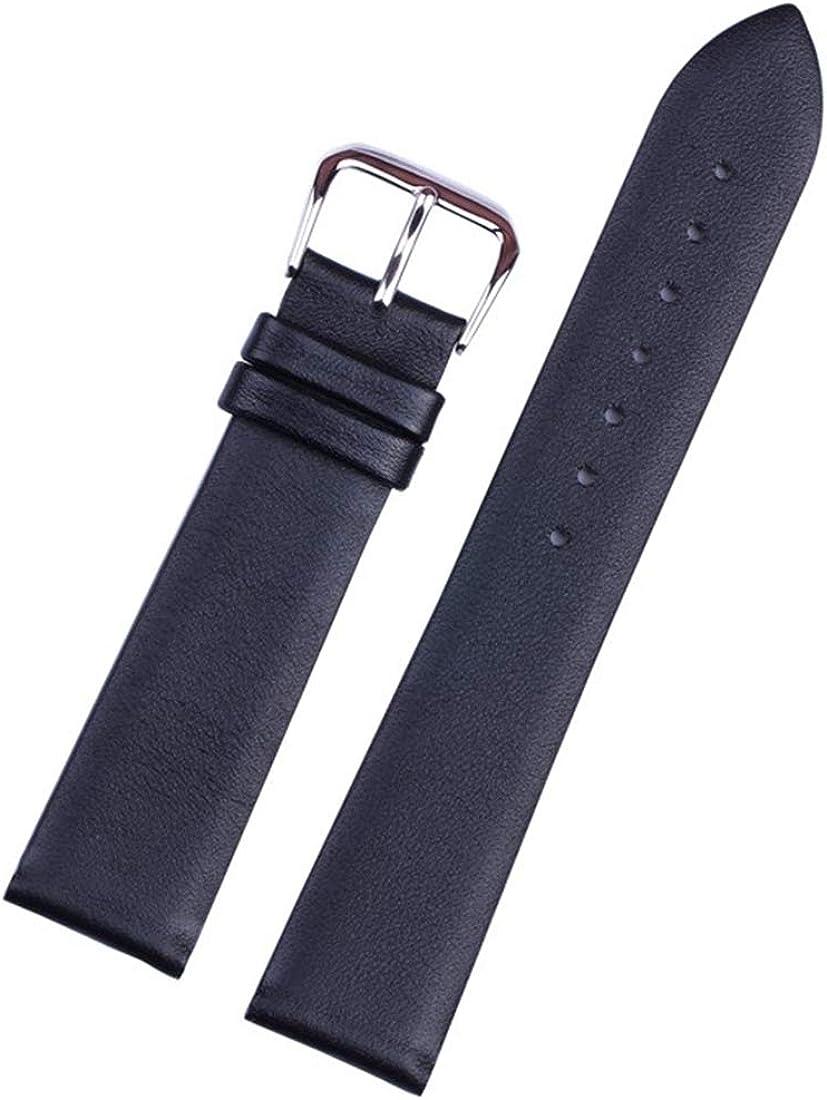 12mm/14mm/16mm/18mm/20mm/22mm dünne weiche Lederband Dornschliesse glatt Uhrenarmbänder Dark Brown Rosegold Buckle