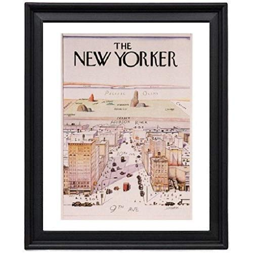 The New Yorker Cover Saul Steinberg USA 1967 Picture Frame - Poster - Print - New Yorker Cover
