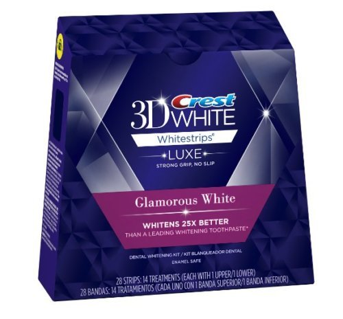 Crest 3D Whitestrips LUXE Glamorous White 28-Strips ( 14-Treatments-14 Upper / 14 Lower)