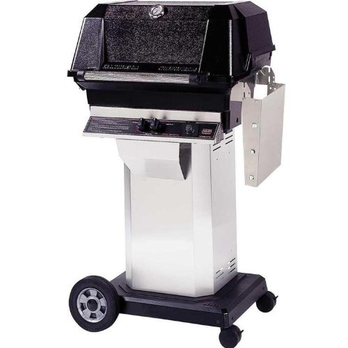 Mhp Gas Grills Jnr4dd Propane Gas Grill W/ Searmagic Grids On Stainless Cart