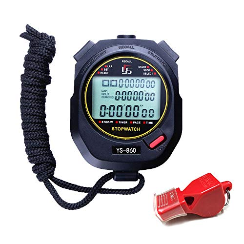 LAOPAO Stopwatch Digital Stop Watch for Sports 60 Lap Memory 0.01 Second Stopwatch Water Resistant Timer