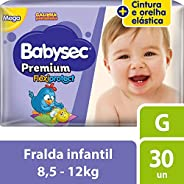 Fralda Babysec Galinha Pintadinha Premium G 30 Unids, Babysec
