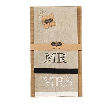 Mud Pie Mr. & Mrs. Towel Set