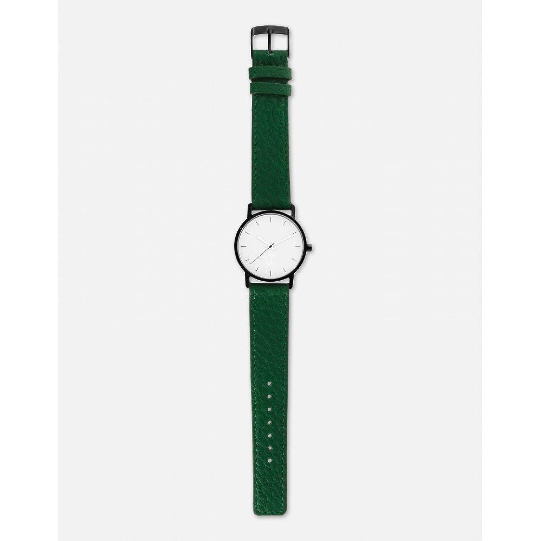 腕時計ユニセックスLa trotteuse Movementクオーツケースホワイト34 mm andブレスレットグリーンMade inレザーlt004 B06ZYL5LTP