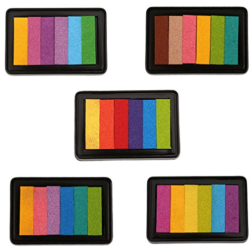 VWH 6 Color Inkpad Gradient Seal Mate Colour Stamp Pad (Pink color) by VWH (Image #3)