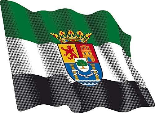 Artimagen Pegatina Bandera Ondeante Extremadura 80x60 mm.: Amazon.es: Coche y moto