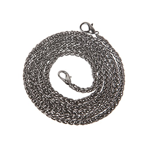 Crossbody Strap Silver Replacement Handbag Metal Handle Bag Black Shoulder Chain 120cm JAGETRADE Purse BSxWHnU