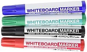 SmartGo ASI500WM601 - Pack de 4 rotuladores (punta redonda, 2 mm), multicolor