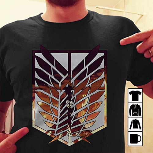 Attack on Titan Wings of freedom Eren Yeager Armin Arlert Mikasa Ackerman T Shirt Long Sleeve Sweatshirt Hoodie Youth ()