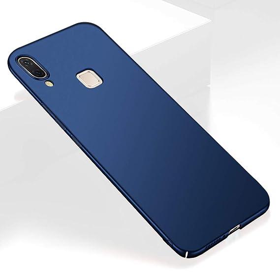 buy popular 13be5 ab082 TheGiftKart Ultra Slim 360 Matte Velvet Feel Hard Back Case Cover for Vivo  V9 / V9 Youth / V9 Pro (Metallic Blue)