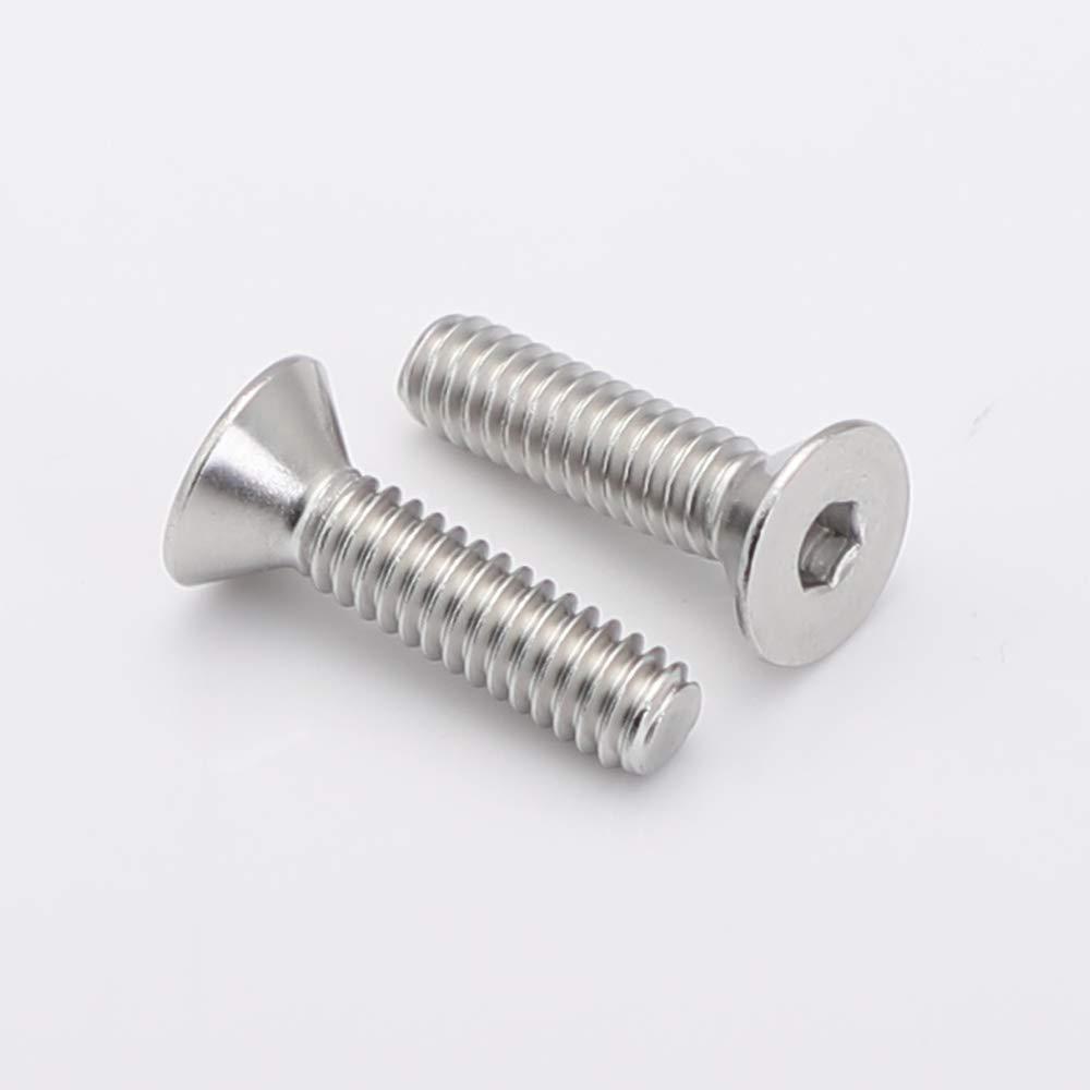 Allen Socket Drive 25 PCS Stainless Steel A2-70 DIN 7991 M6-1.0 x 10mm Flat Head Socket Cap Screws