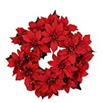 75-inch-3-inch-Inner-Ring-Artificial-Poinsettia-Candlering-Candle-Ring-Red